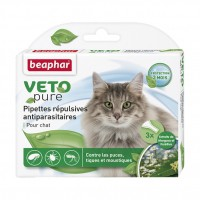 Antiparasitaire pour chat - Pipettes répulsives antiparasitaires Vetopure Beaphar