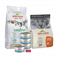 Croquetttes, pâtées et litière pour chat adulte - Almo Nature Kit pour chat adulte