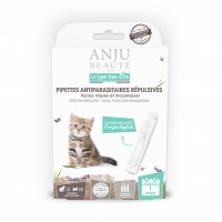 Pipettes répulsives pour chaton - Pipettes antiparasitaires répulsives chaton Anju Beauté Paris