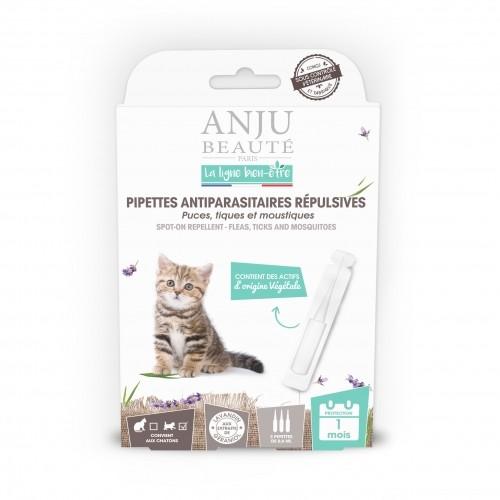 Tiques,  puces & vers - Pipettes antiparasitaires répulsives chaton pour chats
