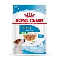 Sachet fraîcheur pour chiot - Royal Canin Mini Puppy - Pâtée pour chiot Mini Puppy - Lot 12 x 85g