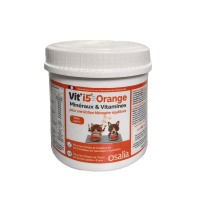 Complément minéral et vitaminé - Orange - Chiot/Chaton et Adulte < 8 ans Vit'i5