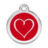 Médaille à personnaliser - Médaille personnalisable motif Coeur Red Dingo