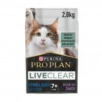 Croquettes pour chat - Proplan LiveClear Sterilised Senior  Dinde