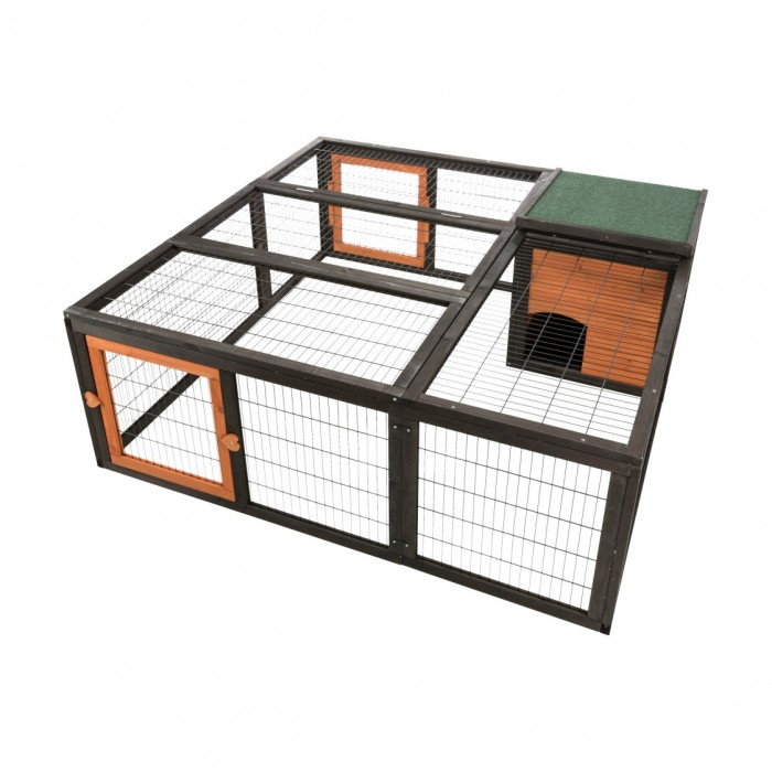 Cage, clapier et enclos rongeur - Enclos avec abri et ouvertures pour rongeurs