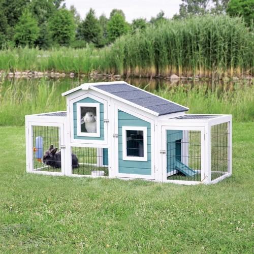 Cage, clapier et enclos rongeur - Natura Clapier avec 2 enclos pour petits animaux pour rongeurs