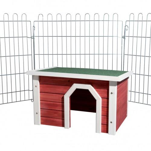 Cage, clapier et enclos rongeur - Maisonnette Ocre pour rongeurs