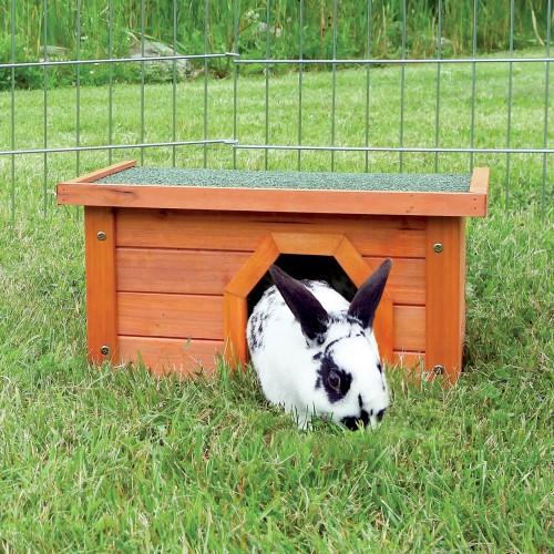 Cage, clapier et enclos rongeur - Maisonnette en pin verni pour rongeurs