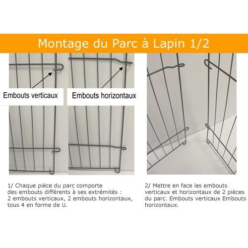 Cage, clapier et enclos rongeur - Parc Croq'Circus pour rongeurs