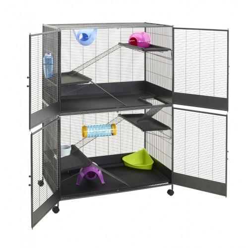 cage suite royale xl cage pour furet et rongeur savic wanimo. Black Bedroom Furniture Sets. Home Design Ideas