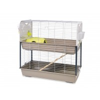 Cage pour lapin, cobaye et furet - Cage Ceasar 3 double Savic