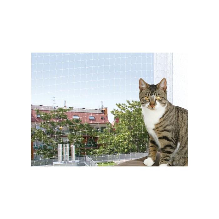 Chatière, sécurité, anti-fugue - Filet de sécurité pour balcon transparent pour chats