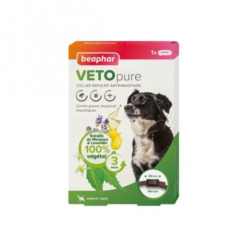 Tiques, puces & vers - Collier répulsif antiparasitaire Vetopure pour chiens