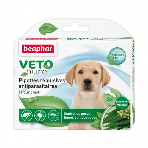 Tiques, puces & vers - Pipettes répulsives naturelles pour chiot pour chiens