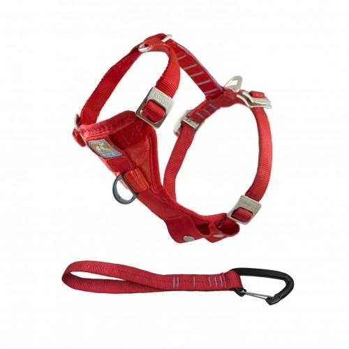 Collier, laisse et harnais - Harnais de sécurité auto Tru-Fit Smart - Rouge pour chiens