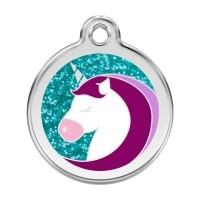 Médaille à personnaliser - Médaille personnalisable motif Licorne Red Dingo