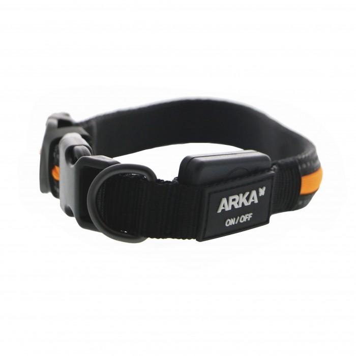 Collier, laisse et harnais - Collier lumineux nylon USB pour chiens