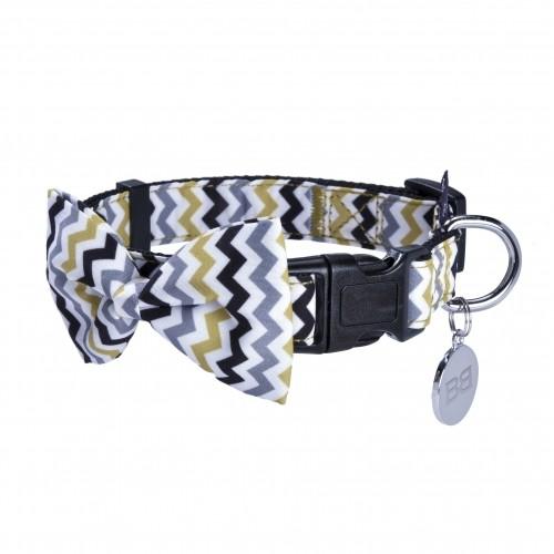 Collier, laisse et harnais - Collier + nœud papillon amovible pour chiens