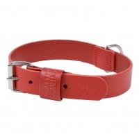Collier pour chien - Collier Basic en cuir rouge Martin Sellier