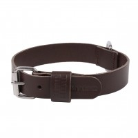 Collier pour chien - Collier Basic en cuir marron Martin Sellier