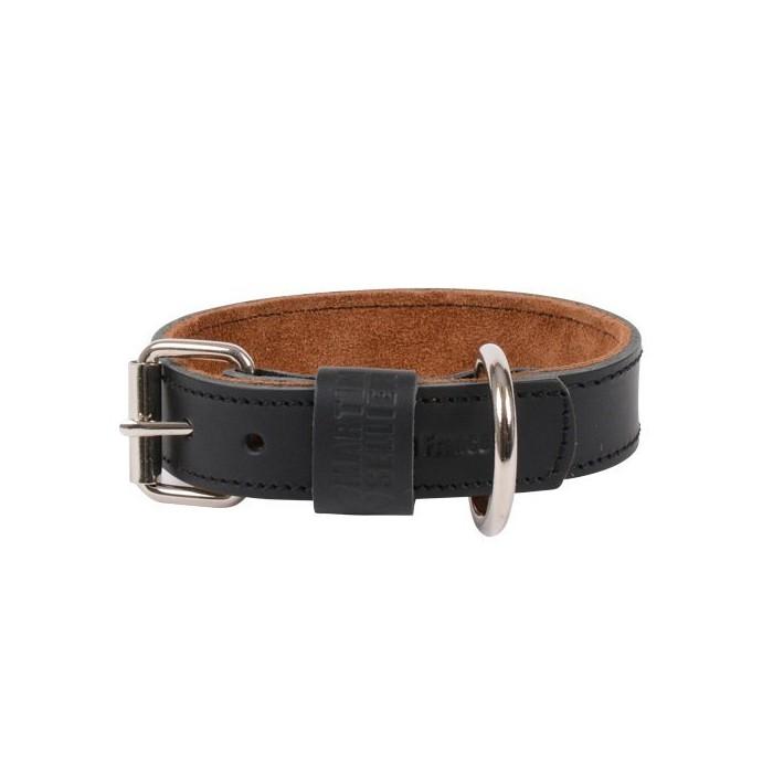 Collier, laisse et harnais - Collier cuir Black & Tan pour chiens