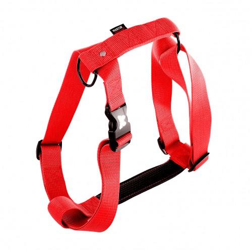 Collier, laisse et harnais - Harnais Confort - Rouge pour chiens