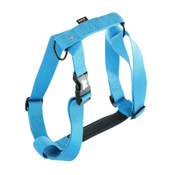 Collier, laisse et harnais - Harnais Confort - Turquoise pour chiens