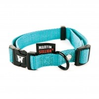 Collier pour chien - Collier Nylon réglable - Turquoise Martin Sellier