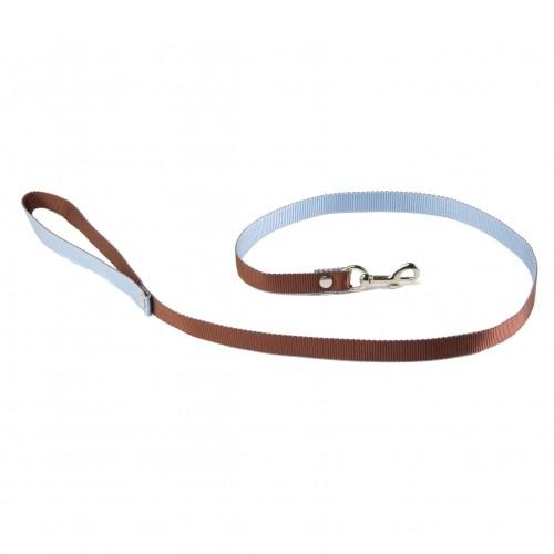 Collier, laisse et harnais - Laisse Bicolore - Marron et bleu pour chiens