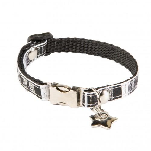 Collier, laisse et harnais - Collier Noir & Blanc pour chiens