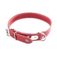 Collier pour chien - Collier avec plaque - Rouge Sellerie Vendéenne