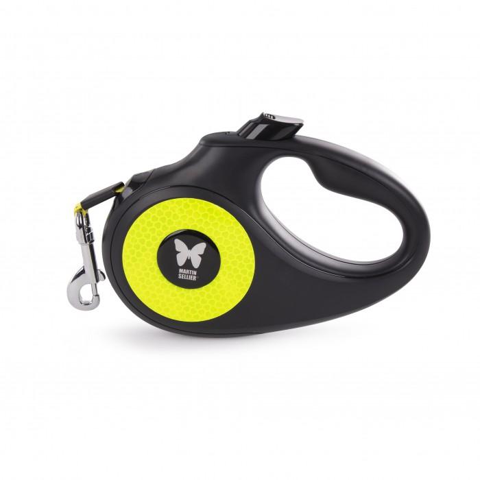 Collier, laisse et harnais - Laisse rétractable Fluo - Sangle pour chiens