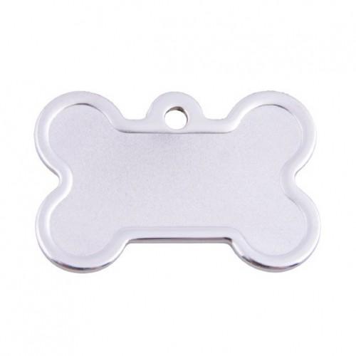 Collier, laisse et harnais - Médaille personnalisée Os Rose pailettes pour chiens