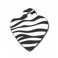 Médaille à personnaliser - Médaille personnalisable cœur Zèbre