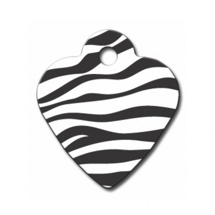 Médaille personnalisable cœur Zèbre