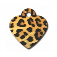 Médaille à personnaliser - Médaille personnalisable cœur Léopard