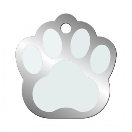 Sélection Noël - Médaille Patte Chromé pour chiens