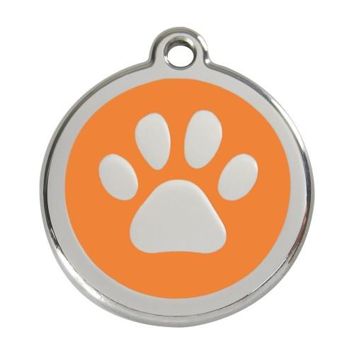 Collier, laisse et harnais - Médaille personnalisable motif Patte de chien pour chiens
