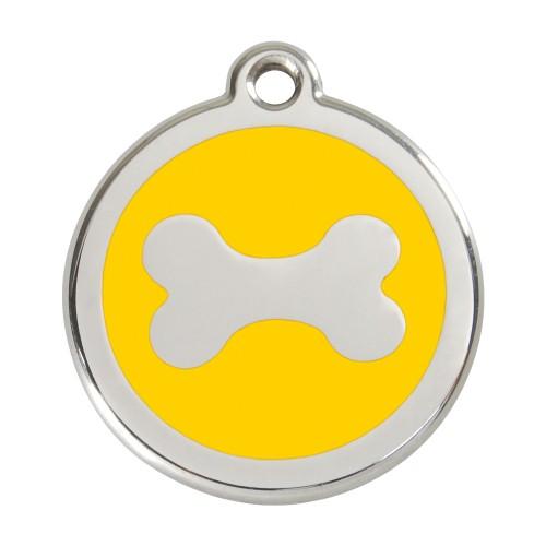 Collier, laisse et harnais - Médaille personnalisable motif Os pour chiens