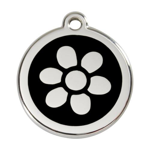 Collier, laisse et harnais - Médaille personnalisable motif Fleur pour chats