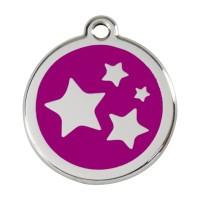 Médaille à personnaliser - Médaille personnalisable motif Etoiles Red Dingo