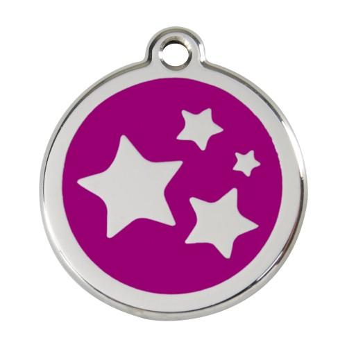 Collier, laisse et harnais - Médaille personnalisable motif Etoiles pour chiens