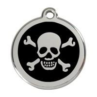 Médaille à personnaliser - Médaille personnalisable motif Tête de mort Red Dingo