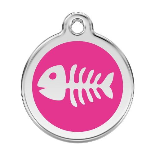 Collier, laisse et harnais - Médaille personnalisable motif Arête de poisson pour chats
