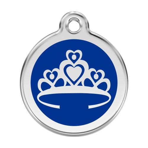 Collier, laisse et harnais - Médaille personnalisable motif Couronne pour chiens