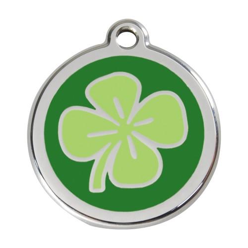 Collier, laisse et harnais - Médaille personnalisable motif Trèfle pour chiens