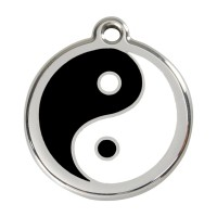 Médaille à personnaliser - Médaille personnalisable motif Yin Yang Red Dingo
