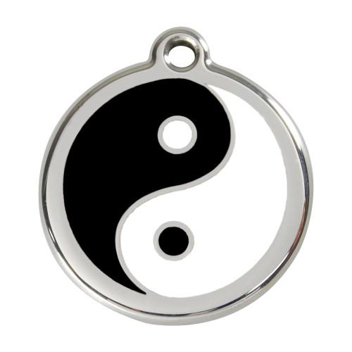 Collier, laisse et harnais - Médaille personnalisable motif Yin Yang pour chiens