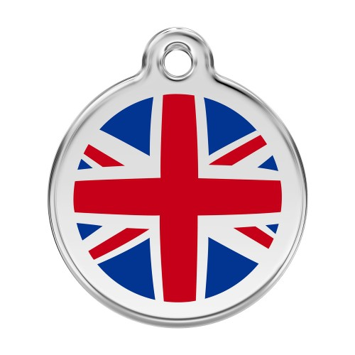 Collier, laisse et harnais - Médaille personnalisable Royaume-Uni pour chiens