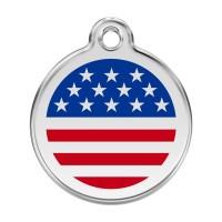 Médaille à personnaliser - Médaille personnalisable Etats-Unis Red Dingo